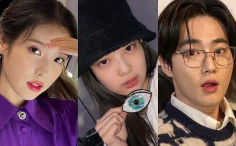 (左から)IU、BLACKPINK ジェニー、EXO スホ